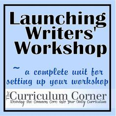 Get your primary Writers' Workshop started off the right way.  Several lessons to get your students thinking like writers and helping them to understand the writing process.  Unit even includes writing certificates for a writer's celebration at the end of the unit!