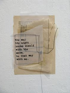 ancagrayworks: mixed media collage on canvas board with rumi quote. anca gray. 2012.