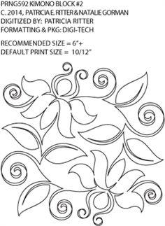 Kimono Block 2 by Patricia Ritter and Natalie Gorman PRNG592