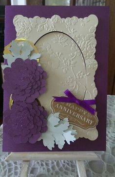 Anniversary Card from Cricut Design Space / Anna Griffin / Handcrafted By Cindy Babich 2015