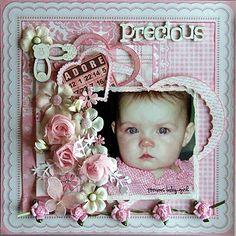 .Scrapbook Layout ~ 1 photo baby