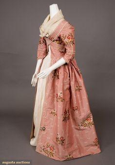 Robe a la Francaise (image 2) | culture unknown | 1770-1780 | silk, linen | Augusta Auctions/Tasha Tudor Historic Collections | November 2007/Lot 117