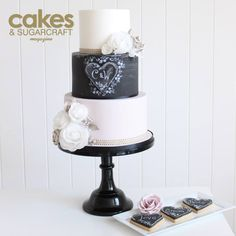 Chalkboard wedding cake tutorial by Poppy Pickering for the Summer 2015 issue of Cakes & Sugarcraft magazine