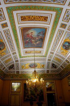 Neoclassical Ceiling in Palazzo Spadaro, Scicli (Ragusa) - Sicily, Italy