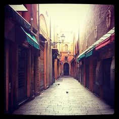 "Quiet Sunday morning streets of Bologna - ""See, Taste, Do! - Instagram Highlights from the Emilia Romagna Region of Italy"" by @jeanettekramer"