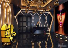 Modern Design and Living Lounge Club, Lounge Party, Bar Lounge, Boutique Interior Design, Bar Interior, Office Interior Design, Hookah Lounge Decor, Night Bar, Night Club