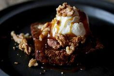 Banana bread with salted caramel