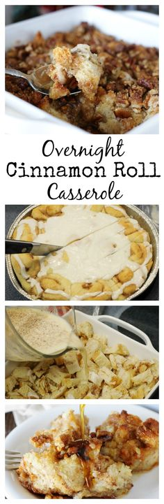Easy Overnight Cinnamon Roll Casserole ~ you'll want it to be your new breakfast tradition!   www.thekitchenismyplayground.com