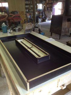 Building a Concrete Countertop for a Fire Pit