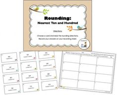 FREE Rounding Center (Nearest Ten/Hundred - CCSS Aligned)  from 3rd Grade Gridiron on TeachersNotebook.com -  (5 pages)  - This 5-page freebie is a great center to provide practice with rounding! Students will round numbers (less than 1,000) to the nearest ten or hundred.  (CCSS.Math.Content.3.NBT.A.1)