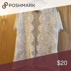 Express Lace Shirt Very good condition! No marks! Express Tops Blouses