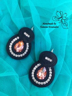 Soutache Pendant, Soutache Earrings, Diy Earrings, Tatting Jewelry, Diy Jewelry, Jewelry Making, Crochet Earrings Pattern, Craft Accessories, Head Pins