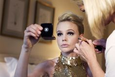 CaMu getting ready for the 2102 Met Gala