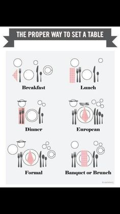 Funny pictures about The proper way to set a table. Oh, and cool pics about The proper way to set a table. Also, The proper way to set a table. Comment Dresser Une Table, Dining Etiquette, Table Setting Etiquette, Setting Table, Table Setting Diagram, Proper Table Setting, Table Place Settings, Elegant Table Settings, Beautiful Table Settings