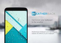 Lee Weatherback: efectos y pronóstico del clima actual directamente en tu fondo de pantalla
