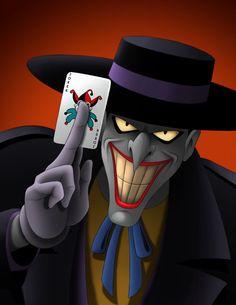 Holy Moley check out the Joker By Mystic Forces. Animated Villain: JOKER Series Appearance: Batman the Animated Series Le Joker Batman, Joker Y Harley Quinn, Joker Art, Batman Art, Gotham Batman, Batman Robin, Joker Kunst, Batman Kunst, Joker Animated
