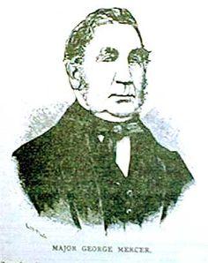 1880 LIVINGSTON COUNTY HISTORY - Image of Major George Mercer