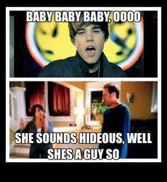 Justin bieber hideous guy commercial