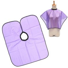 Purple Hairdressing Robes Waterproof Cutting Cape Gown Cloth Salon Barber Coloring
