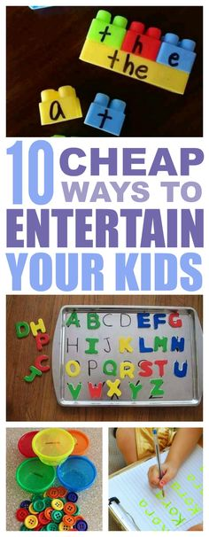 10 Cheap And Easy Kids' Learning Activities That Are A Blast! is part of Kids Crafts Easy Learning - Sitting in front of the TV is not always the best option for keeping kids busy For those times, use these kids' learning activities! 8 is even portable! Kids Learning Activities, Toddler Learning, Infant Activities, Preschool Activities, Toddler Fun, Toddler Crafts, At Home Crafts For Kids, Kids Crafts, Business For Kids