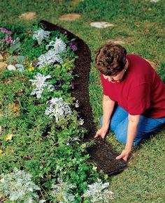 Rubber Landscape Edging - Recycled Rubber | Gardener's Supply