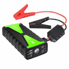 Besteker Portable Car Jump Starter Peak Current Power Bank Battery Booster Charger with LED Flashlight & SOS Jump A Car Battery, Diesel Cars, Diesel Vehicles, Optima Battery, Car Cleaning Hacks, Led Flashlight, Car Wash, Save Energy, Starters