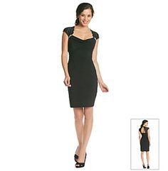 Cachet® Lace Topped Little Black Dress