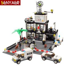 29.99$  Watch more here - http://aigoj.worlditems.win/all/product.php?id=2053899128 - 6725 631Pcs Police Series City Police Station police car Building Blocks Brick Learning & Education Toys For Kid Gifts