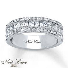 Neil Lane Anniversary 1 1/4 ct tw Diamonds 14K White Gold Band