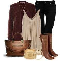 Burgundy, Taupe, Brown, Black & Gold by chells-style on Polyvore