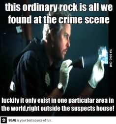 CSI logic. I thought this kind of stuff only happened on CID.