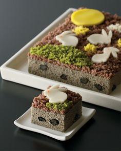 Japanese cake Otsukimi-Usagi (Moon Rabbit)