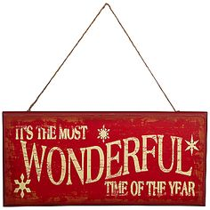 It's the Most Wonderful Time Of The Year Christmas Wall Plaque ~~ online at JohnLewis.com - John Lewis