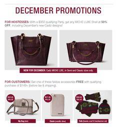Miche December Promotions -   nms.miche.com