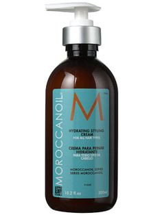 Moroccanoil Hydrating Styling Cream Review: Hair Care: allure.com Works well not as greasy as the oil.