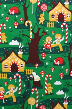 Hansel and Gretel organic jersey (by the half metre)   Kitschy Coo