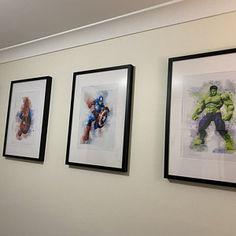 Set 9 Superheroes DOWNLOAD Watercolor Art Print On Sale | Etsy Canvas Wall Collage, Diy Canvas Art, Avengers Superheroes, Birthday Gifts For Boys, Boys Room Decor, Boy Art, Etsy App, Fine Art Paper, Printable Art