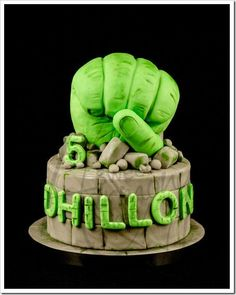Hulk 5th Birthday Cake made by Sweet Harmony Cakes
