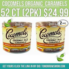 I got plenty of request on my Easter post for these addicting little caramels (psst.. if you haven't tried don't lol I'm doing your weight and pockets a favor they are that good!!) but if your hooked like me these are $4-$6 for a bag of 6! So $24.99 for 52!! Is great GO to link in my bio @tomorrowsmom for details . . . . Visit My Blog: TomorrowsMom.com |Organic & Natural Deals|Family Savings Deals| . TAG OR DM THIS DEAL 2 A FRIEND .  #frugal #savings #deals #cosmicmothers  #organic #fitmom…