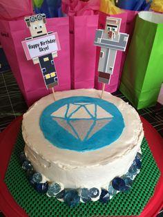 The Diamond Minecart Birthday Cake! Dantdm & Dr. Trayaurus