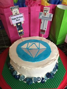 The Diamond Minecart Birthday Cake! Dantdm & Dr. Trayaurus