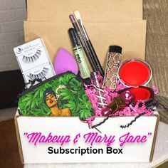 "The ""Makeup & Mary Jane"" Subscription Box features 5-7 cosmetics and marijuana accessories! Sign up at shopstaywild.com"