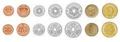 Denmark,  set of 7 uncirculated coins