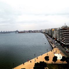 Thessaloniki of Greece. View from from the well-known White Tower!