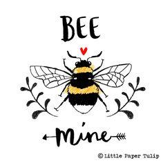 Little Paper Tulip Bee Drawing, Bee Illustration, Bee Creative, I Love Bees, Bee Friendly, Cute Bee, Bee Tattoo, Desenho Tattoo, Bee Art
