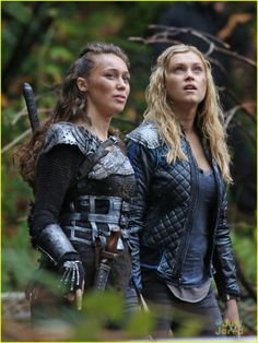 The 100 Season 2 Spoilers | The 100 Season 2: Check out these set photos of co-stars Eliza Taylor ...