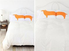 Love the wiener dog pillow cases. I need to get these for my dad and Tara! they would die