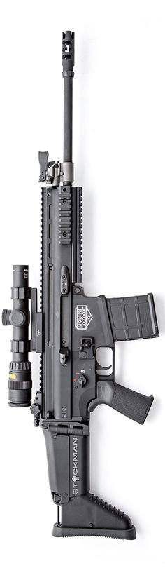 Handl Defense SCAR Magpul and Trijicon Accupoint. By Stickman. Weapons Guns, Military Weapons, Guns And Ammo, Revolver, Firearms, Shotguns, Battle Rifle, Fire Powers, Assault Rifle