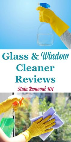 Here is a round up of glass and window cleaner reviews, including both speciality products and general cleaners, to find out which products work best for windows, glass and mirrors, to clean without streaks {on Stain Removal 101} #WindowCleaner #GlassCleaner #MirrorCleaner