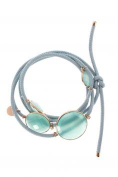mogul I blue leather bracelet with gemstones I designed by marjana von berlepsch I NEWONE-SHOP.COM